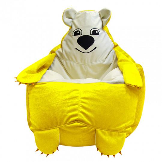 МИШКА велюр желтый