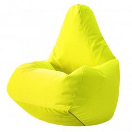ГРУША-XXXL велюр бархатистый ярко-желтый э-22