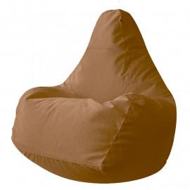 ГРУША-XXXL велюр с тиснением коричневый 509