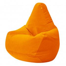 ГРУША-XXXL велюр с текстурой оранжевый ф-008