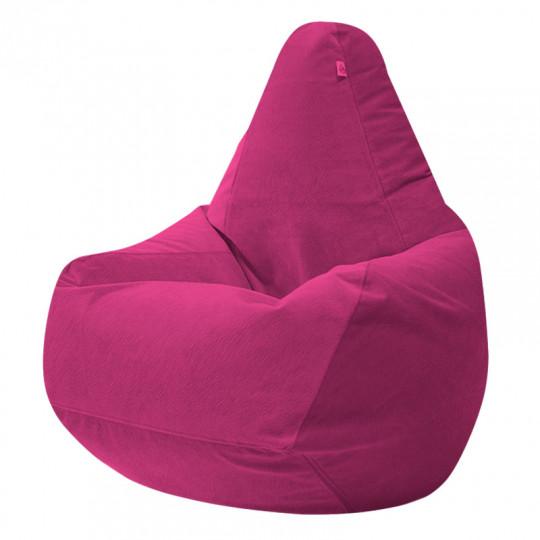 ГРУША-XXXL велюр с текстурой розовый ф-541