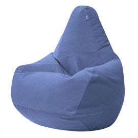 ГРУША велюр с текстурой сине-голубой ф-732