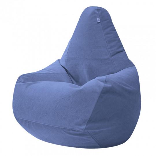 ГРУША-XXXL велюр с текстурой сине-голубой ф-732