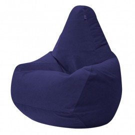 ГРУША-XXXL велюр с текстурой синий ф-564