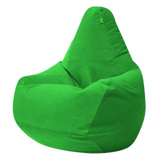 ГРУША велюр с текстурой зеленый ф-522