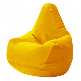 ГРУША-XXXL велюр с текстурой желтый ф-007