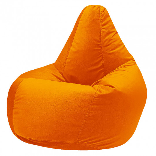 КАМЕДИ велюр с текстурой оранжевый ф-008