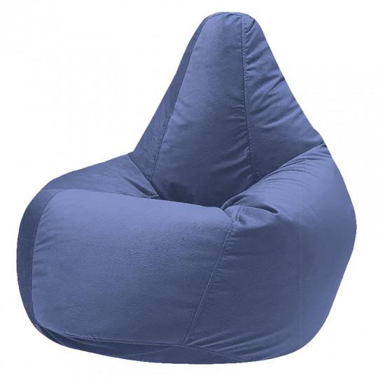 КАМЕДИ велюр с текстурой сине-голубой ф-732