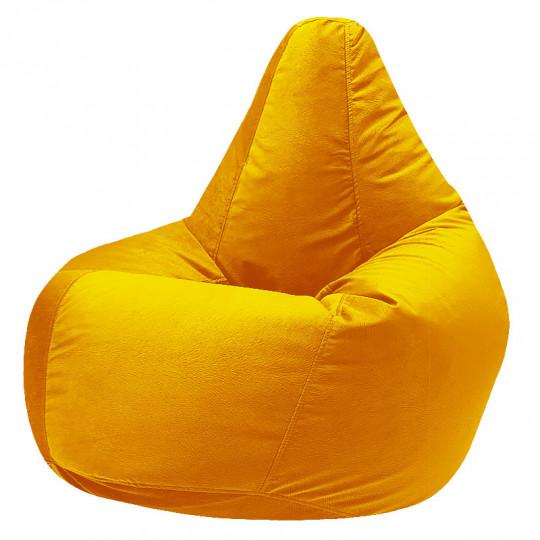 КАМЕДИ велюр с текстурой желтый ф-007