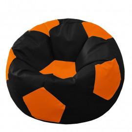 МЯЧ экокожа черный с оранжевым