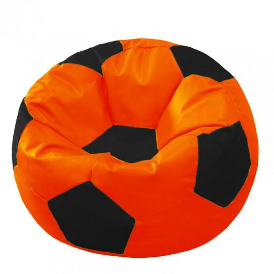 МЯЧ экокожа оранжевый с черным