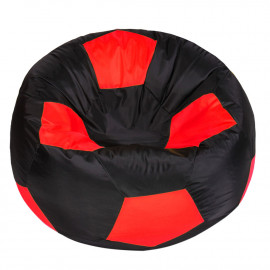 МЯЧ полиэстер черный с красным