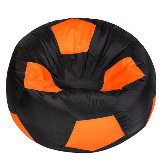 МЯЧ полиэстер черный с оранжевым