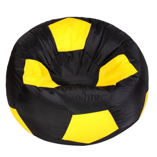 МЯЧ полиэстер черный с желтым