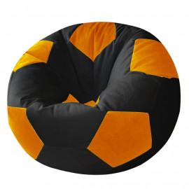 МЯЧ велюр черный с оранжевым