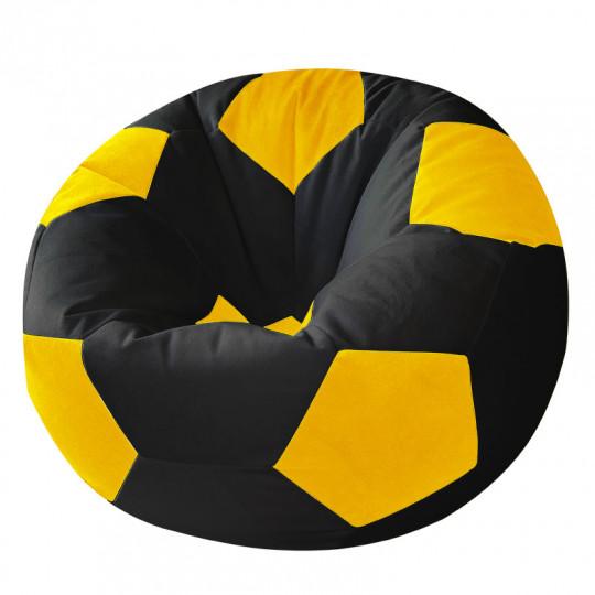 МЯЧ велюр черный с желтым
