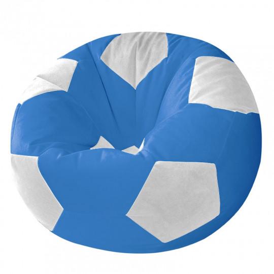 МЯЧ велюр синий с белым