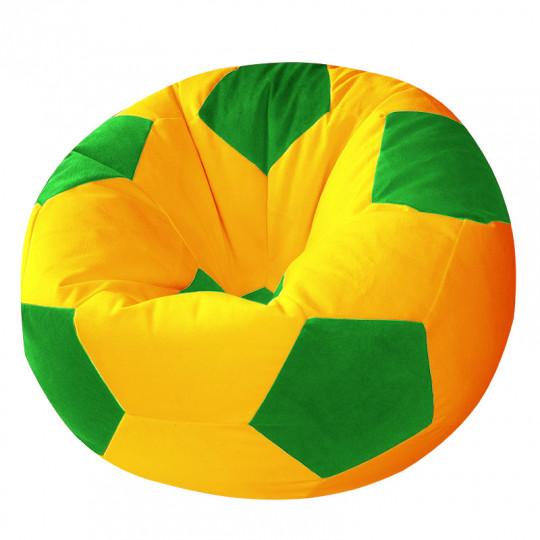 МЯЧ велюр желтый с зеленым