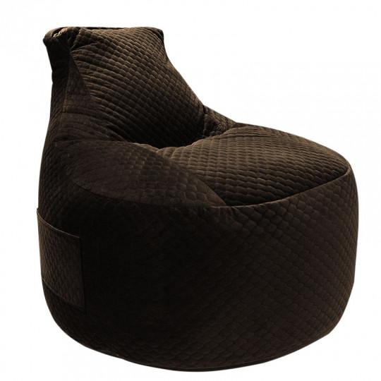 ТРОН (PREMIUM!) велюр темно-коричневый D-009