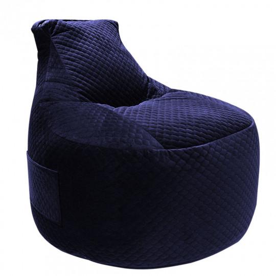 ТРОН (PREMIUM!) велюр темно-синий D-027