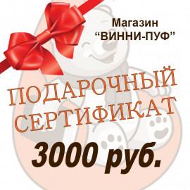 Подарочный сертификат на сумму 3000