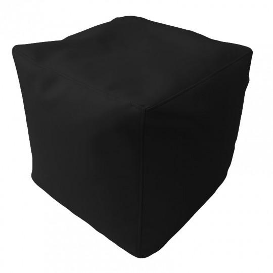 КУБ экокожа темный черный 118