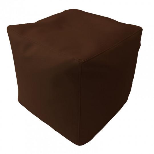 КУБ экокожа темный шоколад 221