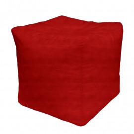 КУБ велюр бархатистый красный э-28