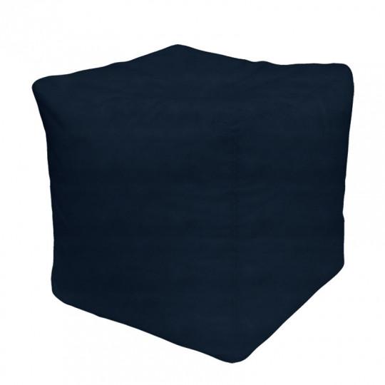 КУБ велюр бархатистый темно-синий э-34