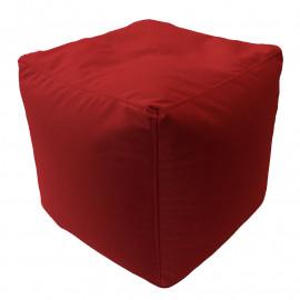 КУБ велюр с текстурой бордовый ф-013
