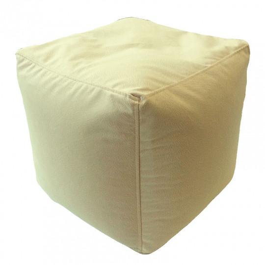 КУБ велюр с текстурой кремовый ф-004