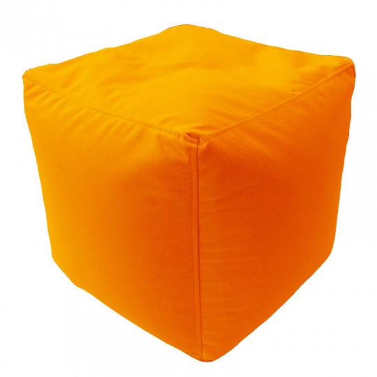 КУБ велюр с текстурой оранжевый ф-008