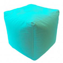КУБ велюр с текстурой светло-бирюзовый ф-010