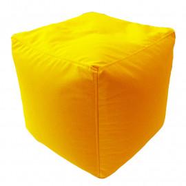 КУБ велюр с текстурой желтый ф-007