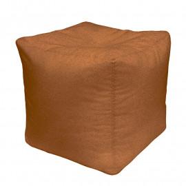 КУБ велюр с тиснением коричневый 509
