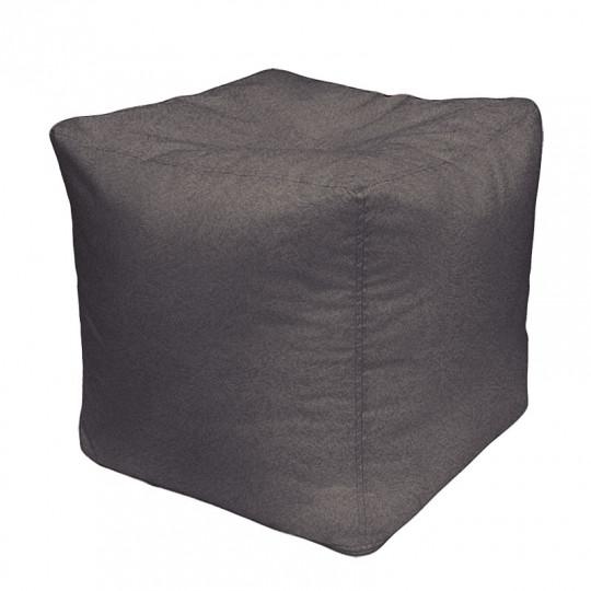 КУБ велюр с тиснением серый 017