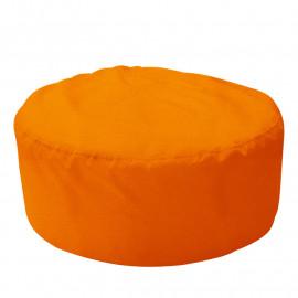 ШАЙБА велюр с текстурой оранжевый ф-008